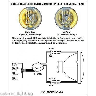 OCTANE LIGHTING Motorcycle Led Headlight Drl Halo Light Bulb Turn Signal Relay Control Module