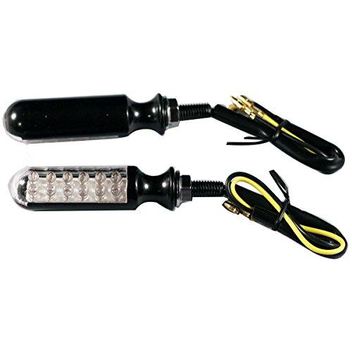 2pcs Aluminum Black LED Turn Indicators Signals Blinkers Ameber Lights for 2014 Harley-Davidson Electra Glide Police FLHTP