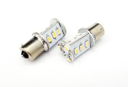 LEDIN 2x 7000K SAMSUNG LED 1156 BA15s 7506 Front Turn Signal Light High Power 12 SMD Bulb