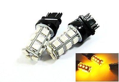 LEDIN 2x Amber High Power 18 SMD LED Front Turn Signal Light 3157 3156 3457 4157