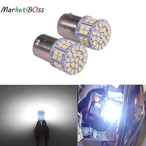 MBS 2PCS Super Bright White 1156 1206 50-SMD 6000K Car LED Bulbs For Car Rear Turn Signal lights Interior RV Camper DC 12V