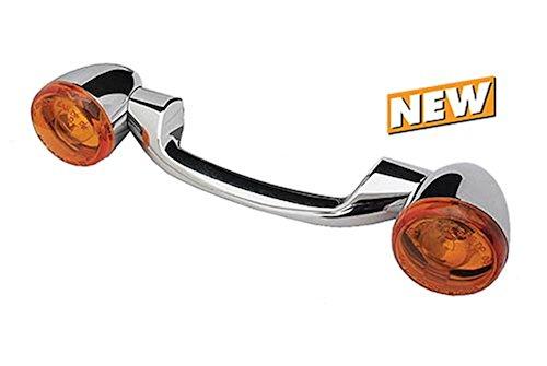 Revox Chrome Rear Turn Signal Bullet Light Bar Kit Harley FL Softail 1986 Up