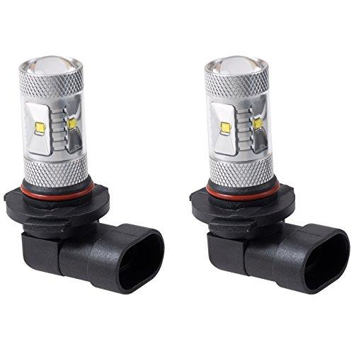 Putco 250010W Optic 360 H10 High Power LED Fog Lamp Bulb - Pack of 2
