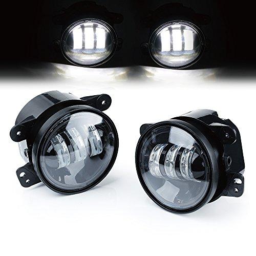 Xprite 4 Inch 60W CREE Led Fog Lights for Jeep Wrangler 1997-2017 JK TJ LJ Off Road Fog Lamps