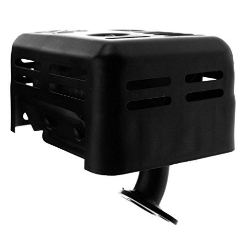 Car Exhaust Black Muffler With Gasket For HONDA GX110 GX120 GX140 GX160