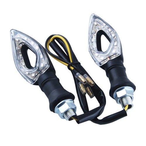 2 PCs 11 LED Hollow Design Motorbike Turn Signals Indicators Blinker Amber Light For Honda Kawasaki Yamaha Suzuki