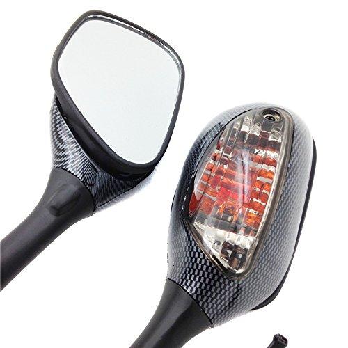 For Suzuki Gsx-R Gsxr 600 750 1000 K6 K7 2006-2011 Carbon Smoke Motorbike Turn Signal Mirrors