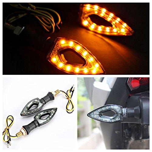 INNOGLOW Motorcycle Turn Signals Lights 12V Universal Motorbike Turn Signal Indicator Blinker Amber Light Lamp for Yamaha Honda Suzuki Kawasaki  2 PCS