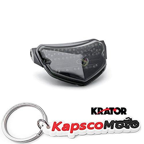 Krator 2004-2005 Suzuki GSXR 600 750 LED TailLights Brake Tail Lights with Integrated Turn Signals Indicators Smoke Motorcycle  KapscoMoto Keychain