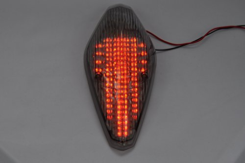Topzone Lighting Smoked Lens Motorcycle Led Taillights Brake Tail Light with Integrated Turn Signal Lamp Indicators For Honda VTX 1300 1800 RETRO 1800T