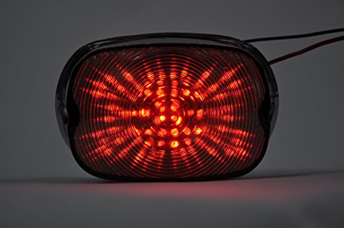 Topzone Smoke Lens Motorcycle Led Taillights Brake Tail Light Integrated Turn Signal Lamp Indicators Harley Davidson Electra Glide FatboyUltra Limited Road Glide Road KingSoftail Street Glide