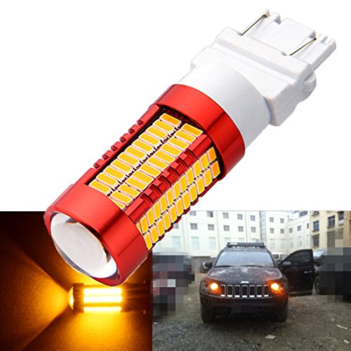 2-Pack High Power Striking Orange-Yellow T25 3056 3156 3057 3157 LED Bulbs For Tail Brake Lights Turn Signal Lights Backup Reverse Lights Brake Lights Tail Lights 12V