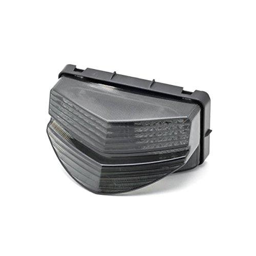 Krator 2001-2003 Honda CBR 600 F4i LED TailLights Brake Tail Lights with Integrated Turn Signals Indicators Smoke Motorcycle