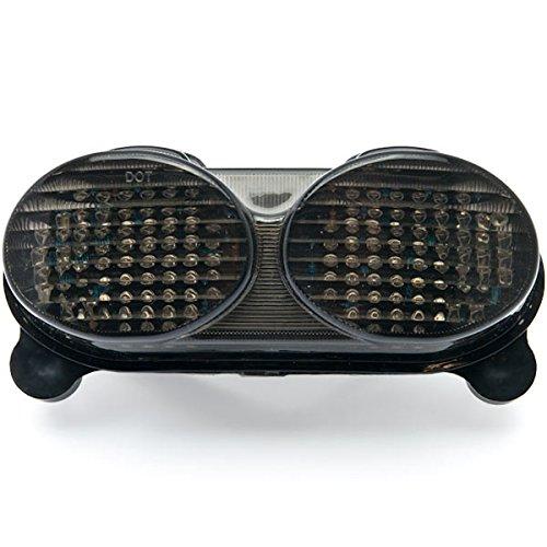 Krator Smoke LED Tail Light Integrated with Turn Signals For 2000-2002 Kawasaki Ninja ZX-6R  ZX600