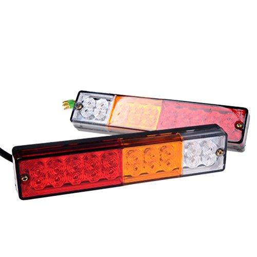 20 LED Waterproof Reflector Indicator Reverse Brake Running Tail Light Trailer RV ATV UTV