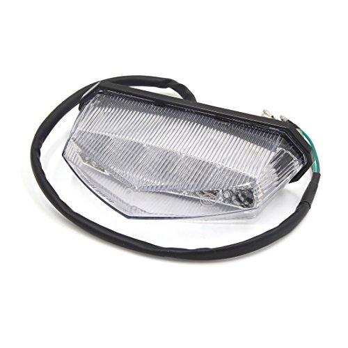 uxcell Universal Red LED Motorcycle Brake Running Tail Light Warning Indicator Lamp