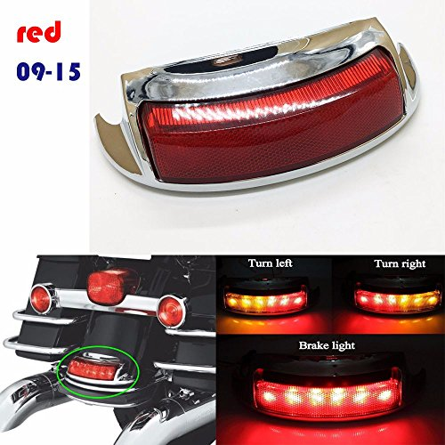 RED HARLEY LED BRAKE light REAR TOURING FENDER TIP Turn signal light 2009-15 PART