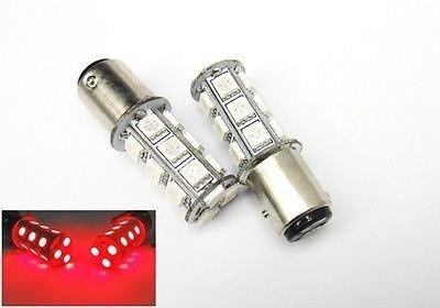 LEDIN 2x Red 1157 High Power 18 SMD LED Tail Light Bulbs BAY15d 7528 2357