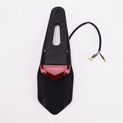 IZTOR Rear Fender LED Brake Tail Light Lamp W Bracket for Off-road Motorcycle Motocross Dirt Bike Custom Motorbike