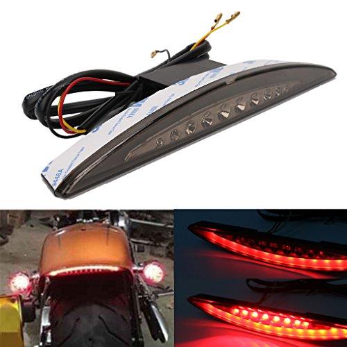 Jade Motorcycle Rear Under Fender LED Brake Tail Light for Harley Breakout FXSB 2013-2017 Smoke Lens