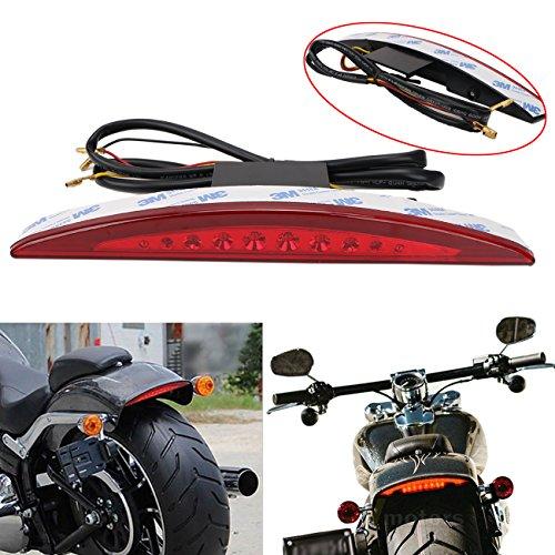 Rear Fender Tail Light  Red Lens with LED Brake Tail Light for Harley Breakout FXSB 2013-2018