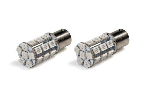 StreetGlow SGP1156WH White 1156 SMD LED BrakeTail Light Bulb - Pair