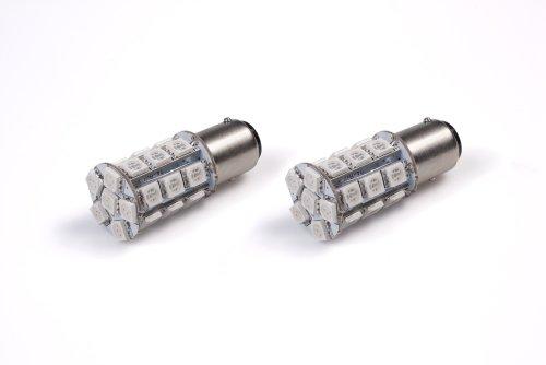 StreetGlow SGP1157AM Amber 1157 SMD LED BrakeTail Light Bulb - Pair