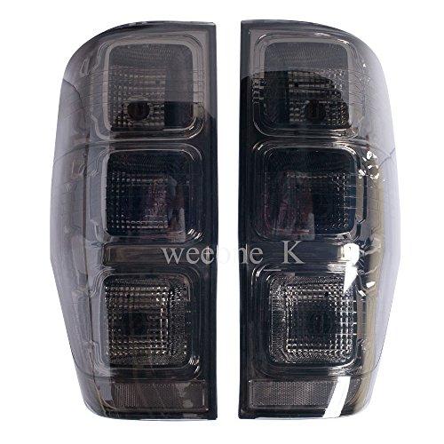 LED LED Rear Taillight Tail Light Lamp Black Smoked Lens For Ford Ranger Raptor T6 XLT Pickup 2012 2013 2014 2015 V3