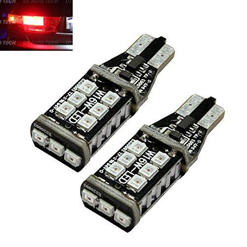 2X T10 921 912 60W High Power 3535 Chip LED Red 3RD Brake High Mount Stop Light Bulbs