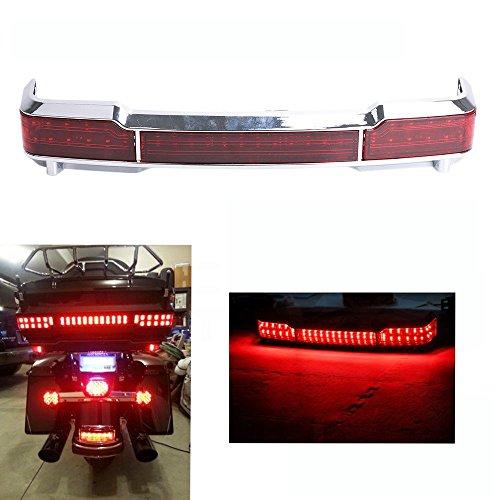 Kawayee Chrome LED Tail Brake Light Kit Trunk King Tour for Harley Touring 1997-2008