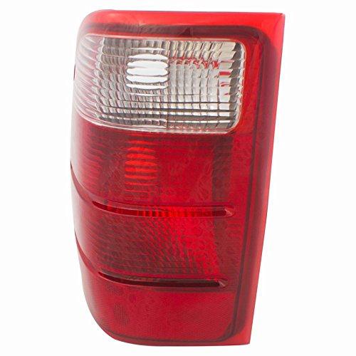 CarPartsDepot 01-05 Ford Ranger Driver Tail Lamp FO2800156 Red BrakeSignal Clear Rev Lens Hsg