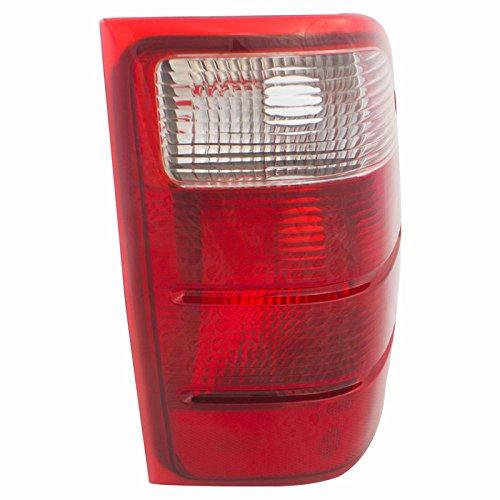CarPartsDepot 01-05 Ford Ranger Passenger Tail Lamp FO2801156 Red Brake Clear Backup Lens Hsg