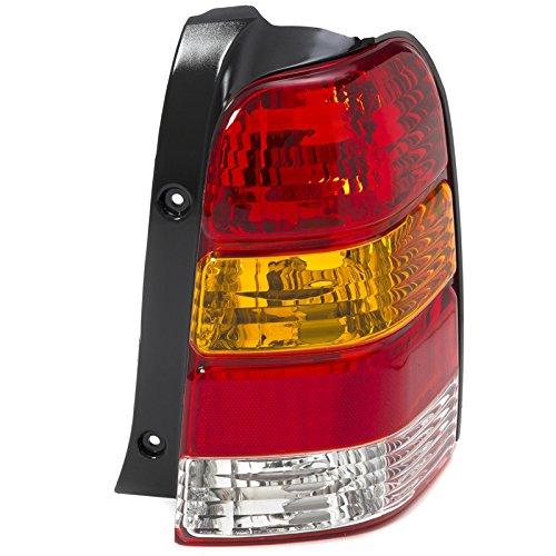 CarPartsDepot 01-07 Ford Escape Right Taillamp FO2818102 Red Brake Amber Signal Clear Rev Lens