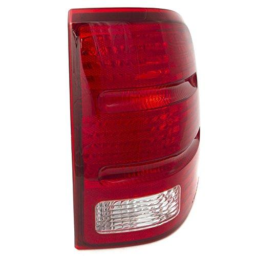 CarPartsDepot 02-05 Ford Explorer Passenger Tail Lamp FO2801159 Red Brake Clear Rev Lens Hsg R