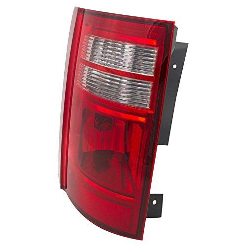CarPartsDepot 08-10 Grand Caravan Driver Rear Tail Lamp CH2800178 Red Brake Clear Reverse Lens