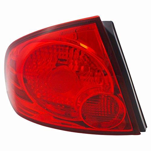 CarPartsDepot For 04-06 Sentra S Driver Tail Lamp NI2800159 Red BrakeSignal Marker Lens LH