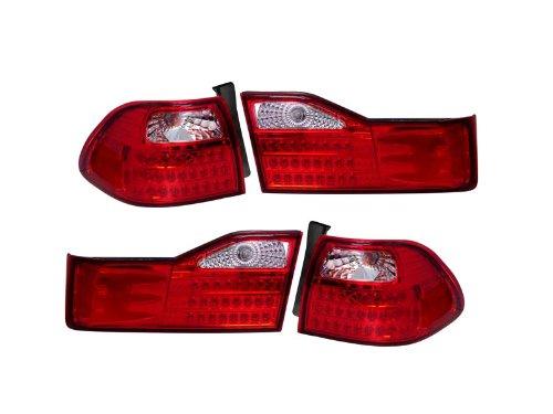 Depo Honda Accord Sedan 01 02 Led Chrome Tail Light Set