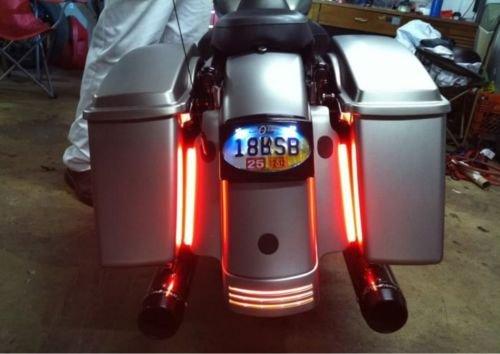 Universal RED Motorcycle Brake Light Harley Davidson Sportster Streetbob LED ROD