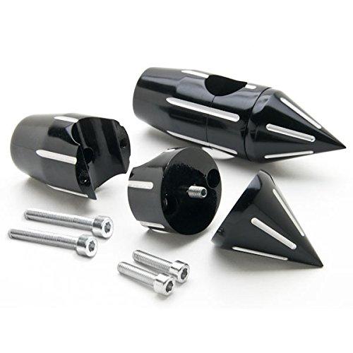 Krator Custom Black Motorcycle 1 Handlebar 225 Risers For Honda VT Shadow Spirit Velorex Deluxe 600 750 1100