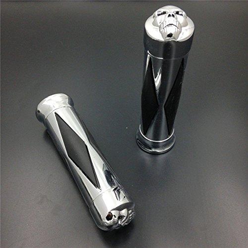 HTT Group Motorcycle 78 22mm Diamond Style Hand Grips Handlebar Grips Fit Harley Softail Cross Bones Deuce Rocker