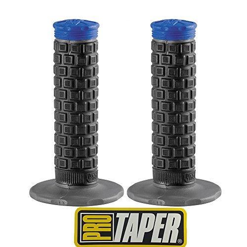 Pro Taper Pillow Top Lite MX Handlebar Grips BlackBlue With Pro Taper Sticker