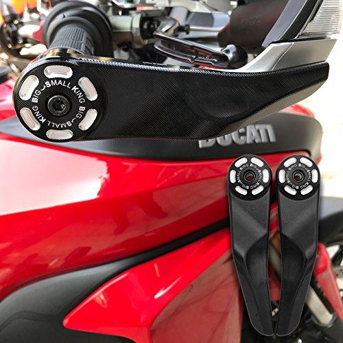 BSK Motorcycle Pair Handlebar Protector for Ducati Multistrada MTS 1200 950 Black