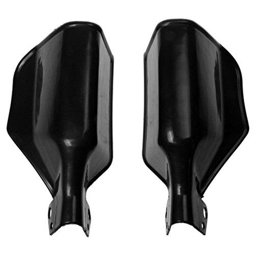 MonkeyJack Universal 22mm 78 Motorcycle Scooter Handlebar Handguards Protector Brush Guards - Black 20011075mm