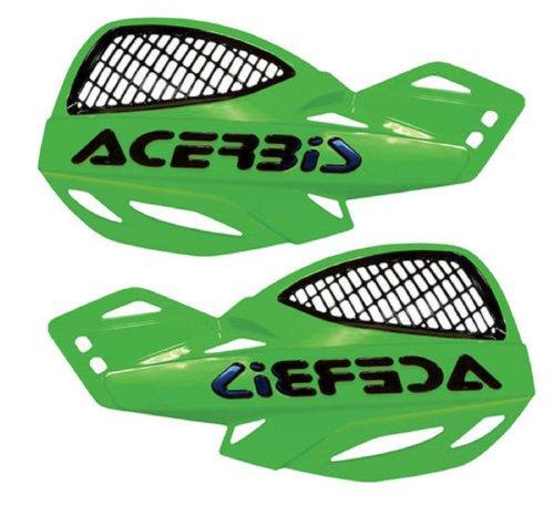 Acerbis Vented Uniko Green Handlebar Hand Guards Fits Honda Kawasaki Suzuki Yamaha Cr80 Cr85 Cr125 Cr250 Cr500 Crf80 Crf100 Crf150 Crf230 Crf250 Crf450 Xr80 Xr100 Xr200 Xr250 Xr350 Xr400 Xr500 Xr600 Xr650 Kx60 Kx65 Kx80 Kx85 Kx100 Kx125 Kx250 Kx500 Kx250f