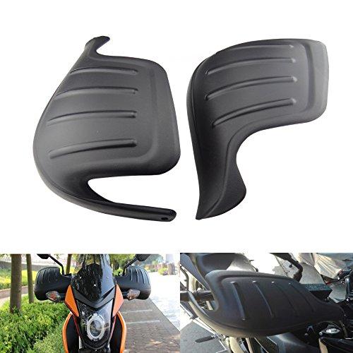 Hanperal 1 Pair Motorcycle Wind Deflector Handguard Handlebar Hand Guard Protector ShieldBlack