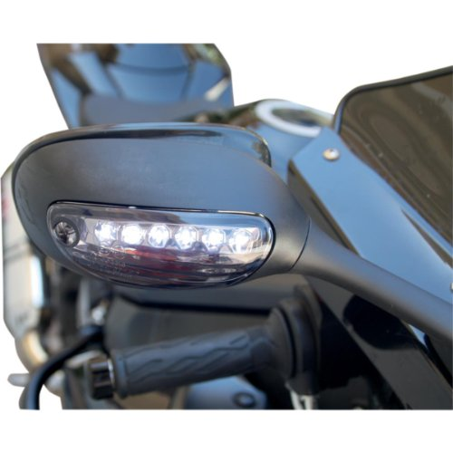 Competition Werkes DRL Integrated Turn Signals - Stealth MPH-12107CS