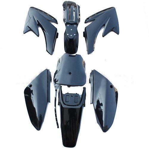Black Plastic Body Fairing Fender Kit Bodywork Set for HONDA CRF 70 CRF70 Pit Bikes Dirt Bikes