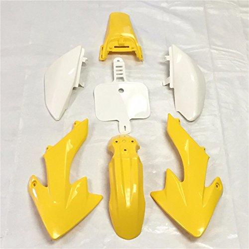 HK Group Motorctcly Yellow Plastic Fender Kit Body Work Fairing Kit For Honda CRF XR XR50 CRF50 Clone 125CC Pit Dirt Bike