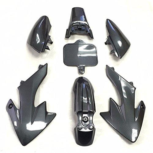 HTT Group Motorctcly Carbon Fiber Plastic Fender Kit Body Work Fairing Kit For Honda CRF XR XR50 CRF50 Clone 125CC Pit Dirt Bike