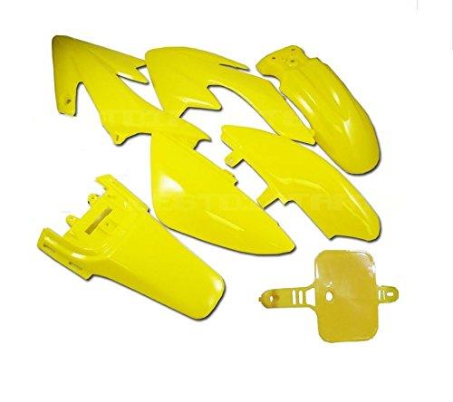 MAXFASTMAXTM Plastic Fairing HONDA CRF XR 50 CRF50 125 SSR SDG 107 Dirt Pit Bike Fender Kit ALL YELLOW